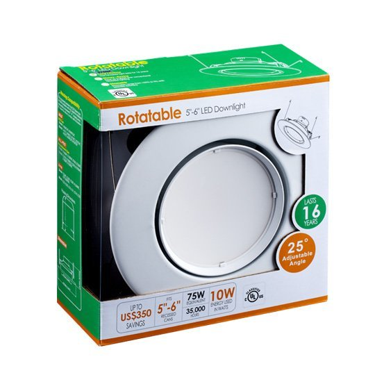Rotatable 5-6inch LED Residential Downlight