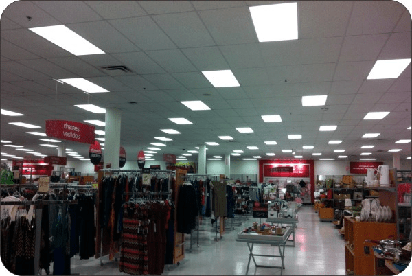 OKT 2x4FT LED Dimmable Panel Light in Supermarket - New York,USA