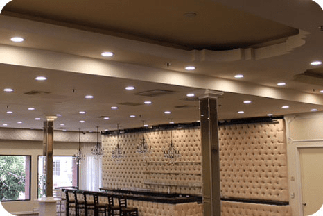 OKT LED Residential Downlight in Ballroom - LA