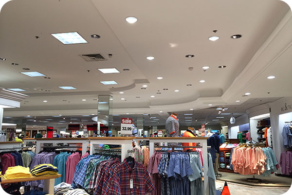 OKT LED Commercial Downlight in Shopping Mall - North Carolina