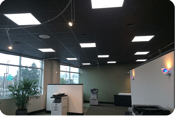 OKT 2X2FT LED Flat Panel Light in Office - Portland, Oregon