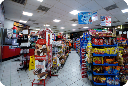 OKT 2X4ft led panel light in supermarket in Marrero in 2014