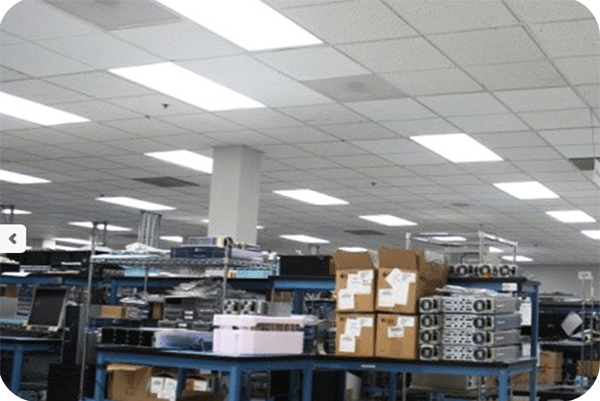 OKT 2X4FT LED panel light in factory in Vancour in 2014
