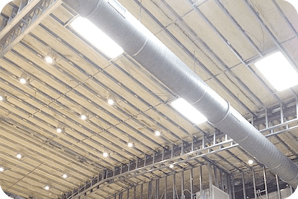 OKT 2x4ft led panel light in warehouse - New Orleans Louisiana