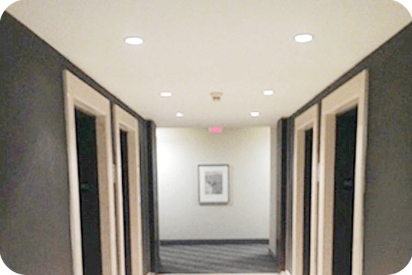 OKT 4inch recessed led can light in hotel-Toronto Canada