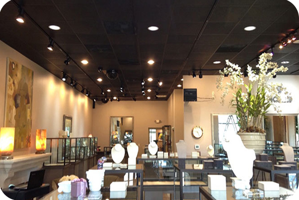 OKT 6inch led retrofit downlight in stores in Houston in 2014