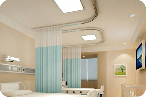 OKT LED Flat Panel Fixture in hospital room - FL