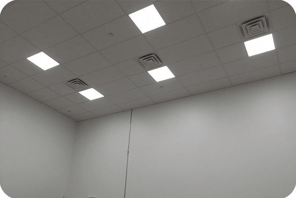 OKT 2X2FT Panel Light in office in New York in 2015