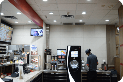 OKT 6inch led residential downlight in fast food shop in Houston in 2015