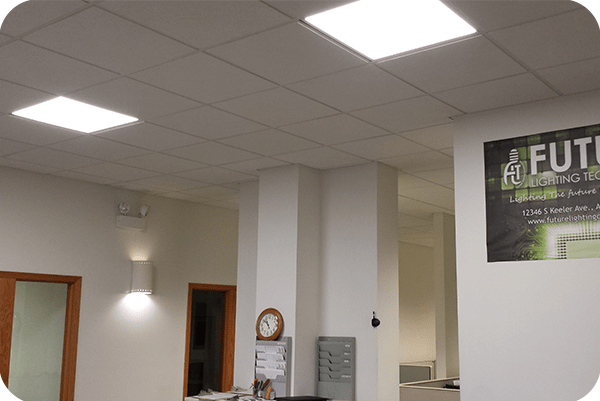 OKT 2x2ft led panel light in office in Chicago