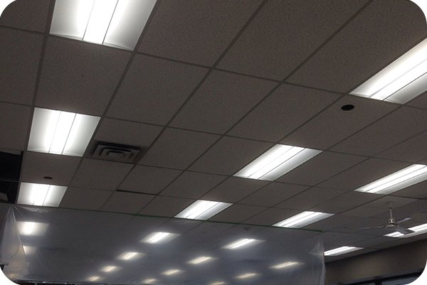 OKT Lighting 42W 2X4FT LED Troffer in car dealer shop in Toronto,ON