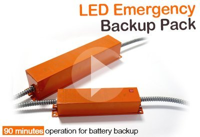 OKT Lighting - UL LED Emergency backup for variety of led fixtures