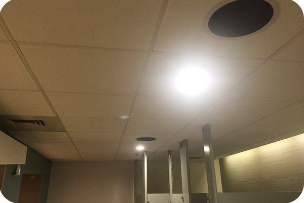 OKT Lighting 6inch 277V residential downlight installed in International Convention Centre in San Diego
