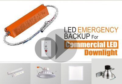 Installation Of LED Emergency Backup For 8Inch Commercial LED Downlight