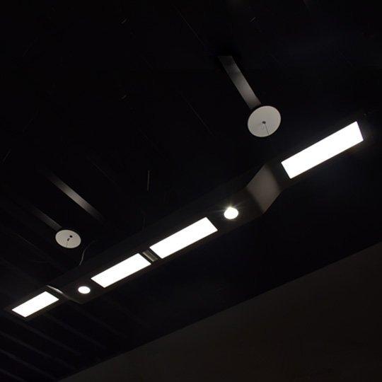 Hybrid Architectural LED Linear Pendant Light Fixtures