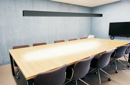suspended light for meeting room
