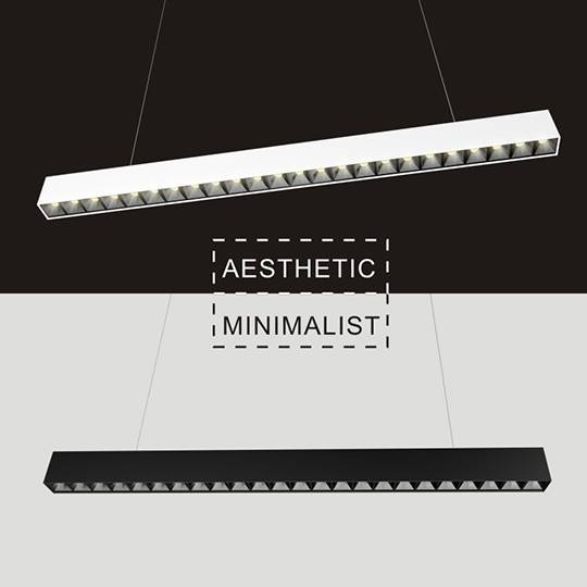 Low Glare LED Linear Light Fixture